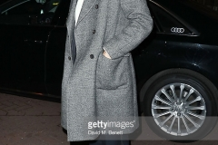 arrives in an Audi at The London Evening Standard Theatre Awards at The Old Vic Theatre on November 13, 2016 in London, England.